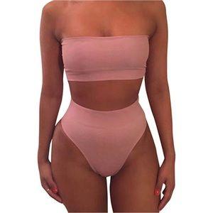 Other - Cheeky High Waist Bikini Set Swimsuit - Pink